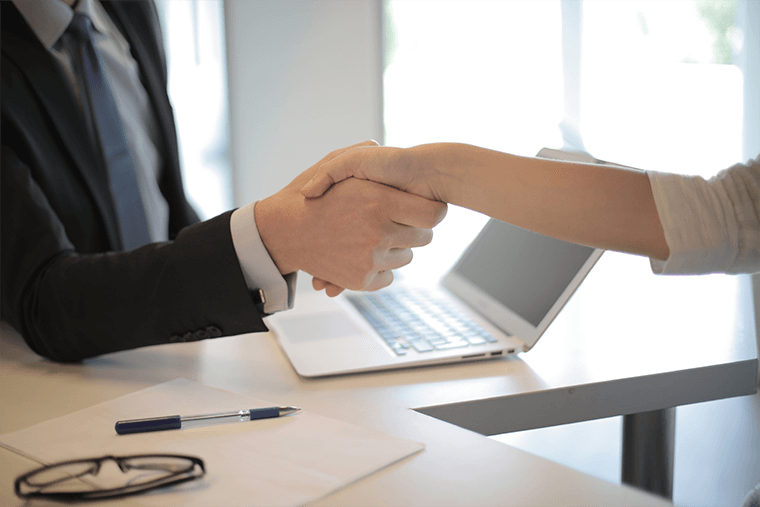 Hiring shaking hands